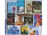 11 BOOKS massage step by step yoga guide family health relexology ashtanga yoga home clearance sale