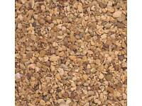 Brown naturally round decorative stones approximately 250kg