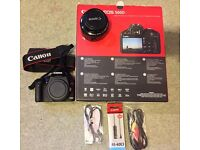 Canon 500d with Canon Lens 50mm f1.8 & more - Immaculate condition @ £195 only