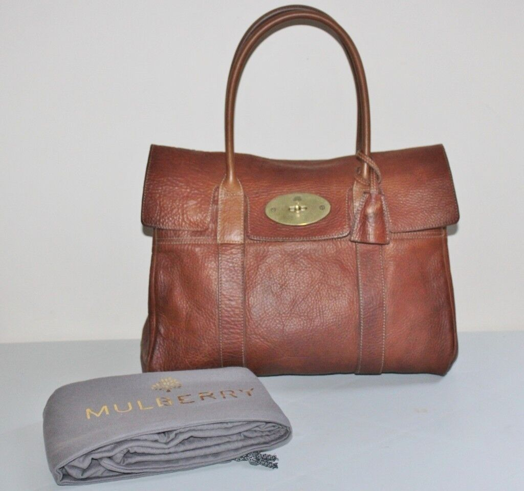 Authentic Early Mulberry Darwin Oak Leather Bayswater Handbag With Dustbag Rrp 995