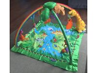 Fisher Price jungle rainforest baby play mat / activity gym with music & lights