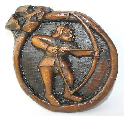 Archer Robin hood Unique Medieval Reproduction Carving long Bow Archery Arrow