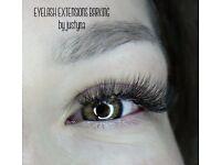 Eyelash extensions , lash lifting, brow shape and tint