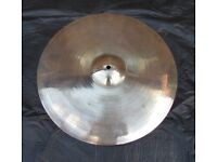 """ZYN By PREMIER 16"""" CRASH CYMBAL Made In England 1970's Vintage"""