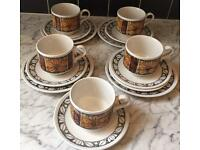 Retro Broadhurst 15 Piece Part Tea Set