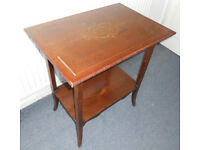 Mahogany Occasional Table with Shelf