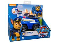 NEW Paw Patrol Chase's Spy Cruiser Vehicle and Figure (Chase Blauw)
