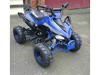 125cc Quad Bike 4~Stroke Electric Start Rev&Go Off Road Petrol Blue