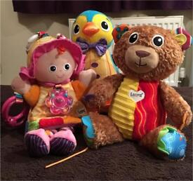 Lamaze soft sensory toys for babies and toddlers