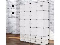 white Portable closet 12 Cube………smoke pets free home