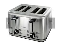 Brabantia 4 Slice stainless steel Toaster NEW RRP £69.99