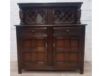 Oak Court Cupboard (DELIVERY AVAILABLE FOR THIS ITEM OF FURNITURE)