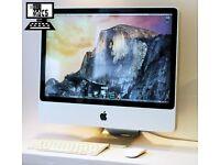 " 20"" Apple iMac 2.4Ghz 4gb 250GB Logic Pro X FL Studio Reason Final Cut Pro Microsoft Office 2016 "