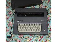 TYPEWRITER - Smith Corona SL470 Electric Portable Typewriter with Case Working UK plug grey
