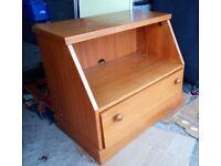 Wood TV Stand or Display & Storage Unit VGC