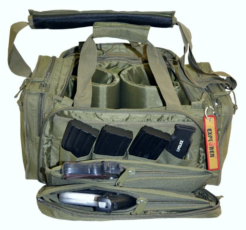 Olive Drab Explorer Tactical Range Ready Bag Gun Pistol Survival Emergency Kit