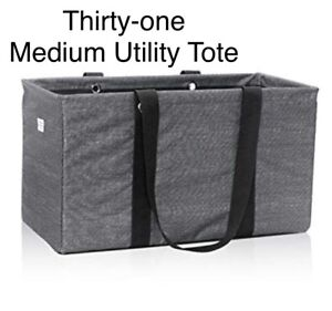 Thirty-one Medium Utility Tote. NEW in package. Charcoal