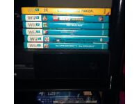 Nintendo Wii U and games all in excellent condition.