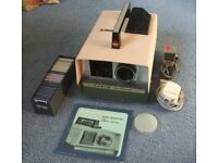 CABIN AUTOMAT 35mm slide projector +Power lead,+remote+1 slide magazine+plastic cover+instructions