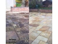 Local driveway patio decking jet/Pressure Washing cleaning service near me Leicester