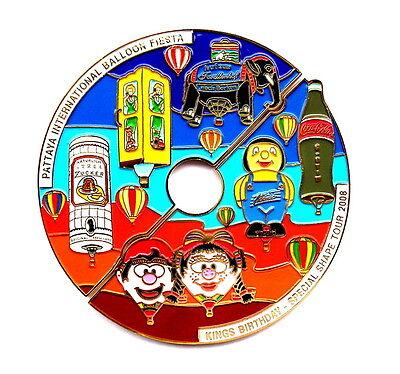 """COCA COLA BALLON """"SPECIAL SHAPE"""" Pin / Pins - PATTAYA 2008 / 2 PINS!!!! [3679]"""