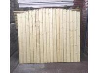 🌳Arch Top Close Board Wooden Fence Panels🌳