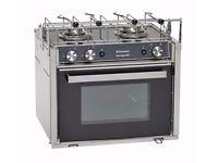 NEW Great boat/caravan oven - Domestic Moonlight 2 28L LPG oven/grill/2 burner hob