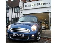 2012 MINI HATCHBACK,PEPPER PACK,FULL HISTORY,AIR CON,ALLOYES,CD,RAC WARRANTY,LOW FINANCE,ONE OWNER