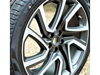 """SINGLE 5025 GENUINE 22"""" LAND RANGE ROVER DISCOVERY ALLOY WHEELS TYRE 285/40/22"""