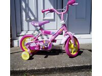 """12""""Wheel,Kid`s Bike With Stabilizers, Will Fit 3/4/5 Yr Old Clean Bike SERVICED."""