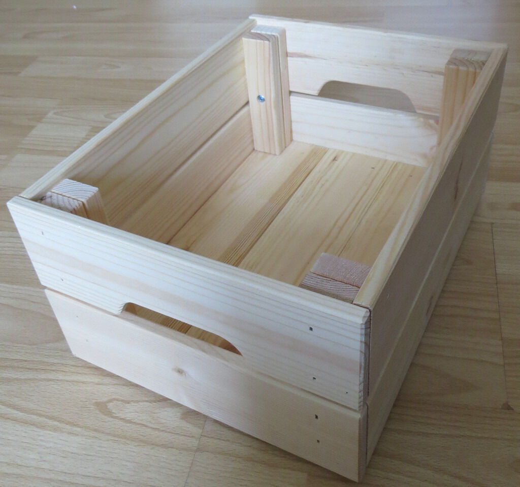 x2 knagglig ikea wooden storage boxes crates in southampton hampshire gumtree. Black Bedroom Furniture Sets. Home Design Ideas