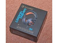 SADES A6 7.1 Surround Sound USB PC Gaming Headset With Mic