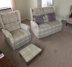 Cosi chair 2seater sofa , chair and footstool