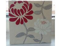 Modern flower design canvas