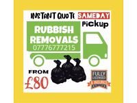 RUBBISH REMOVAL WASTE DISPOSAL HOUSE OFFICE CLEARANCE SAMEDAY PICKUP