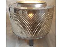Stainless Steel Drum Floor Light