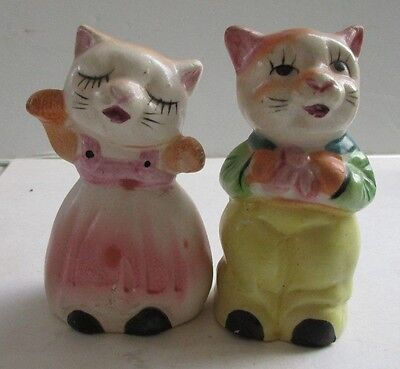 Vintage Kitty Cat Salt and Pepper Shakers