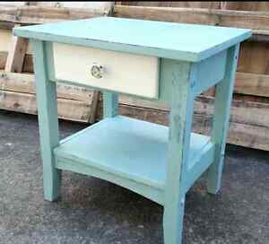 Shabby chic rustic bedside table Sandgate Brisbane North East Preview