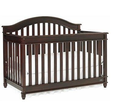 Lajobi Europa Baby Palisades Convertible Crib Cherry-Nursery-Toddler-Furniture