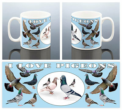 LOVE PIGEONS MUG RACING PIGEON FANCIER Birthday Gift Men Him Dad Cup Grandad