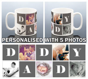 PHOTO DADDY MUG Personalised Birthday Gift Best Dad Present Cup also NANNY NANNA