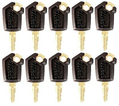 10 Keys For Cat Caterpillar Heavy Equipment Ignition Key 5p8500