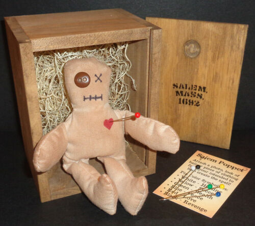 Voodoo Doll ~ Poppet of Salem, Massachusetts 1692 in Wooden Shipping Crate!