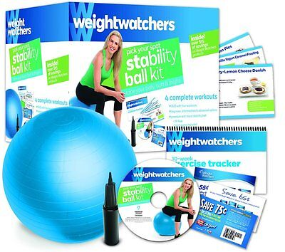 Weight Watchers Stability Ball Kit: 4 Complete Workouts with DVD & Extras - New
