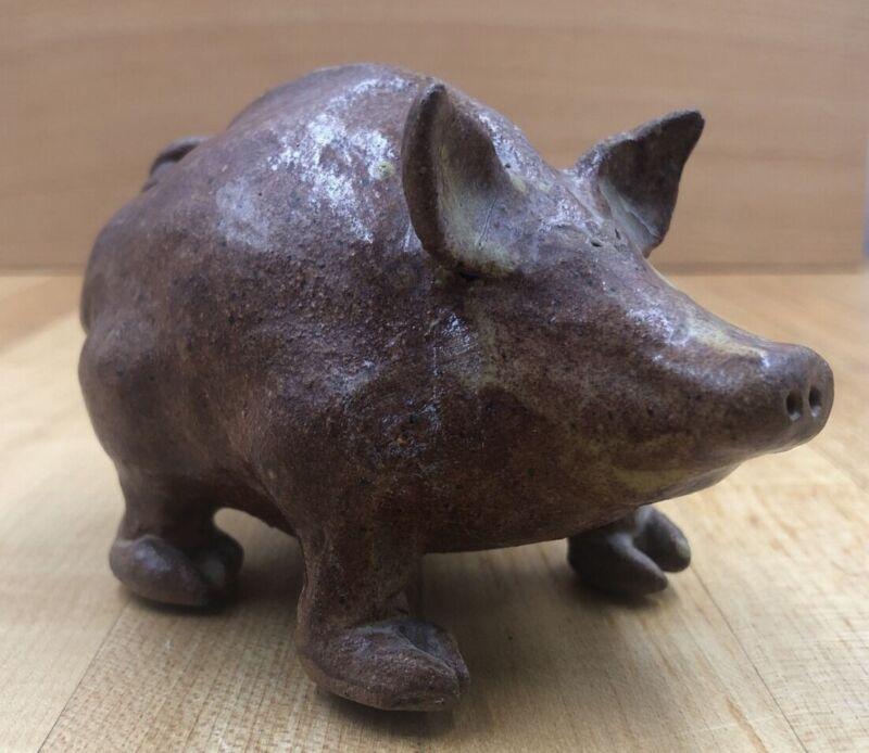 Vintage Stoneware Pottery PIG Figurine Virginia