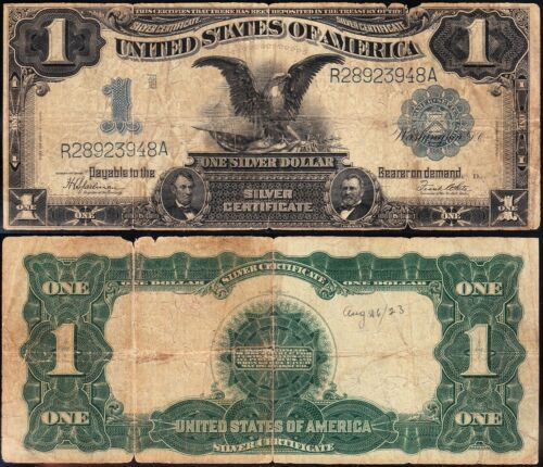 Circulated 1899 $1 BLACK EAGLE Silver Certificate! FREE SHIPPING! R28923948A