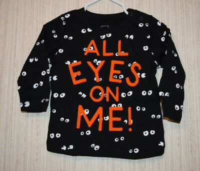 NWT Baby Gap Long-Sleeve All Eyes On Me Shirt 6-12 months Halloween boy/girl - Gap Halloween