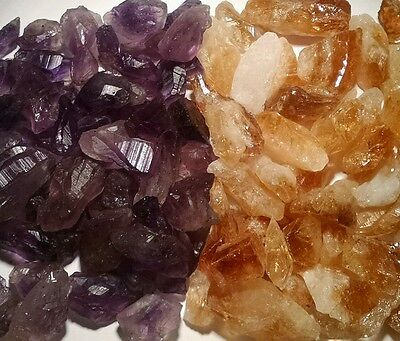 Amethyst   Citrine Points   Pieces 1 4 Lb Lots Natural Gold   Purple Crystal