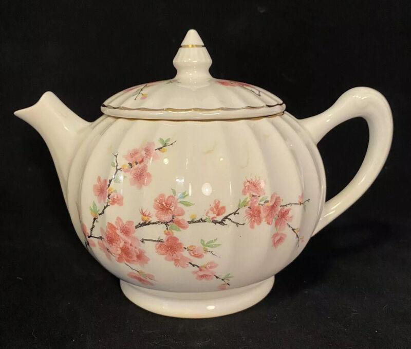 Bolero Tea Pot WS George Cherry Blossom 22 Carat Karat Gold Trim Vintage Vtg