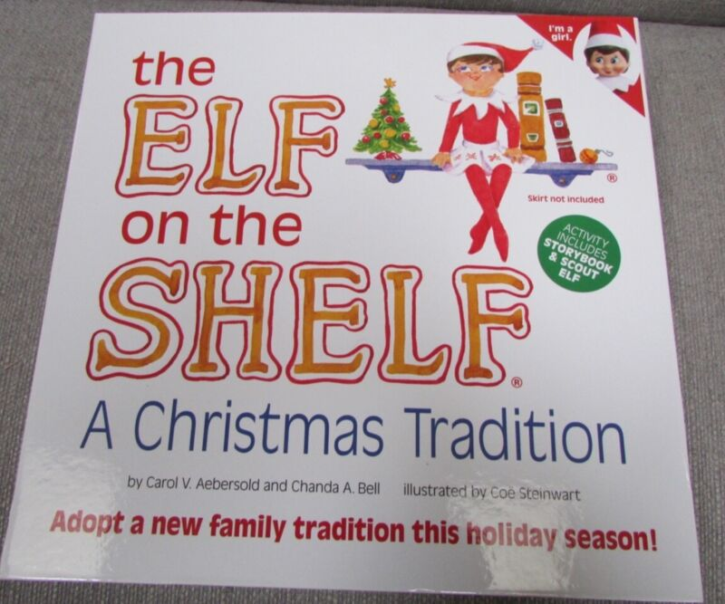 Elf on the Shelf A Christmas Tradition Girl Doll with Blue Eyes & Hardcover Book